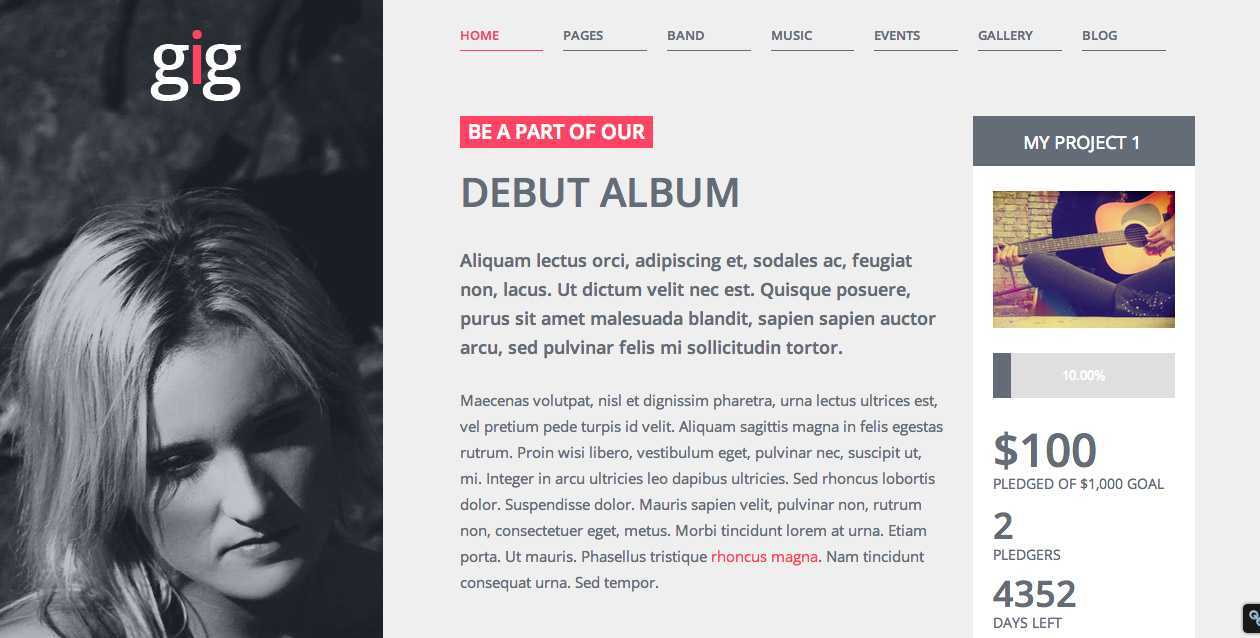 Gig WordPress Theme
