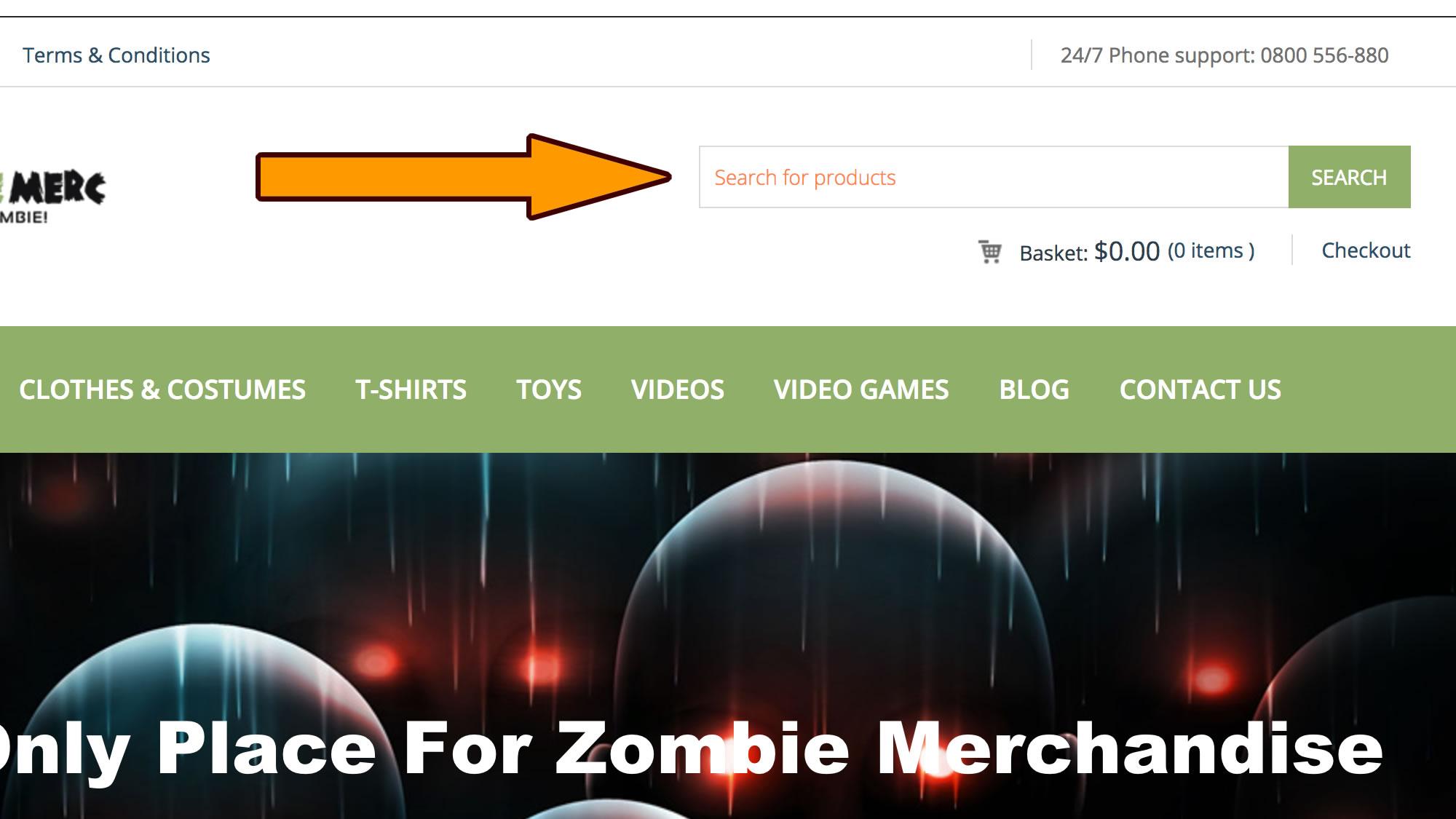Hide the search bar on Kingdom - WordPress Eagle