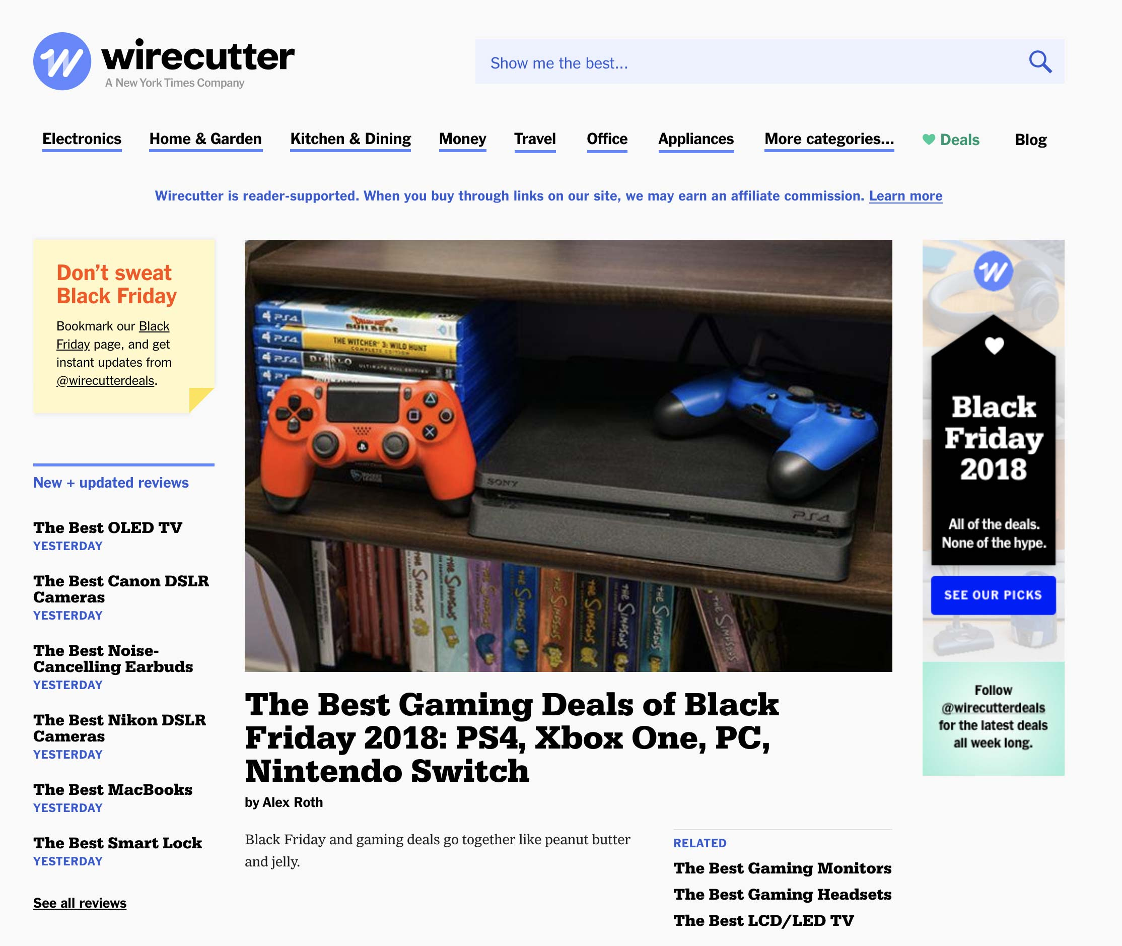 The Wirecutter Black Friday Home Page Wordpress Eagle