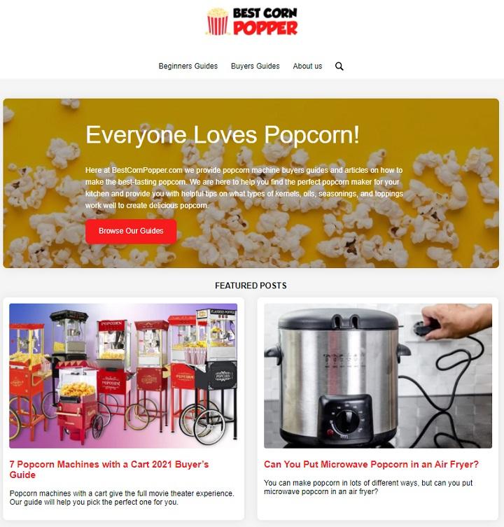 best corn popper niche site