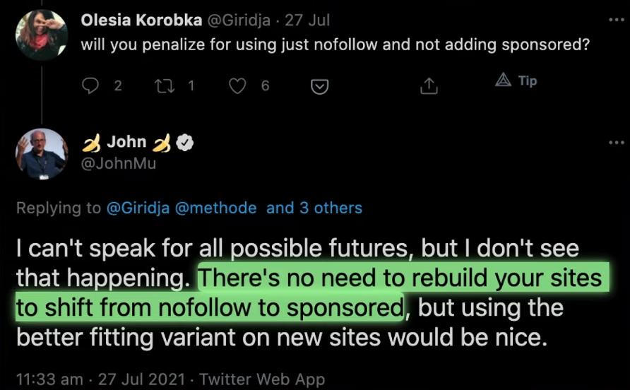 john from google opinion on google links update