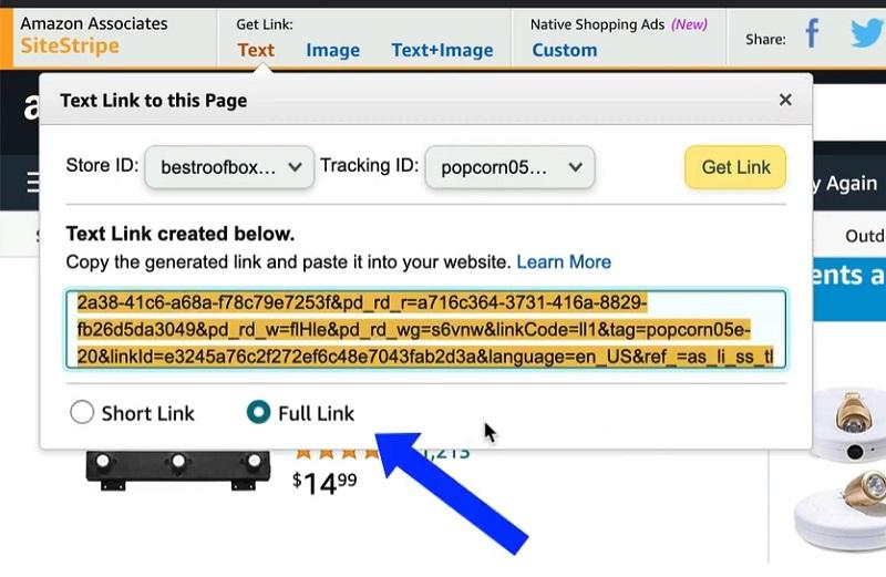 use long links on amazon